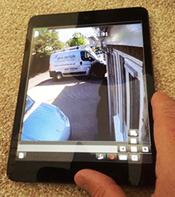 cctv on smartphone Burford